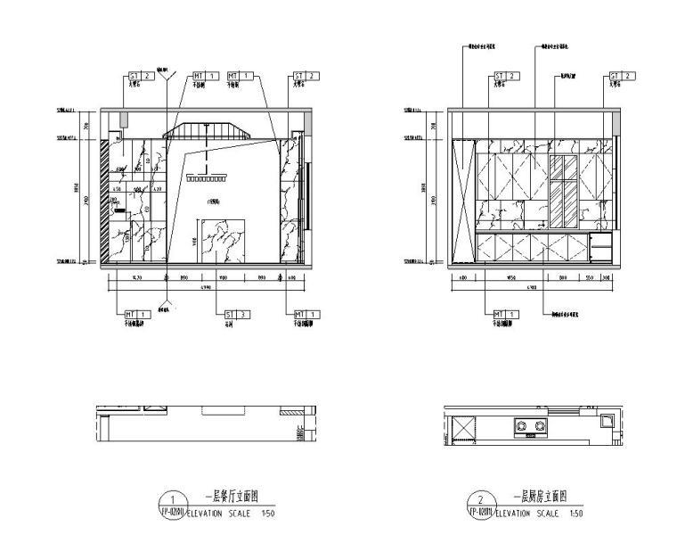 [广东]现代中式800㎡户型别墅样板房施工图_13
