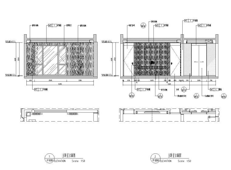 [广东]现代中式800㎡户型别墅样板房施工图_4