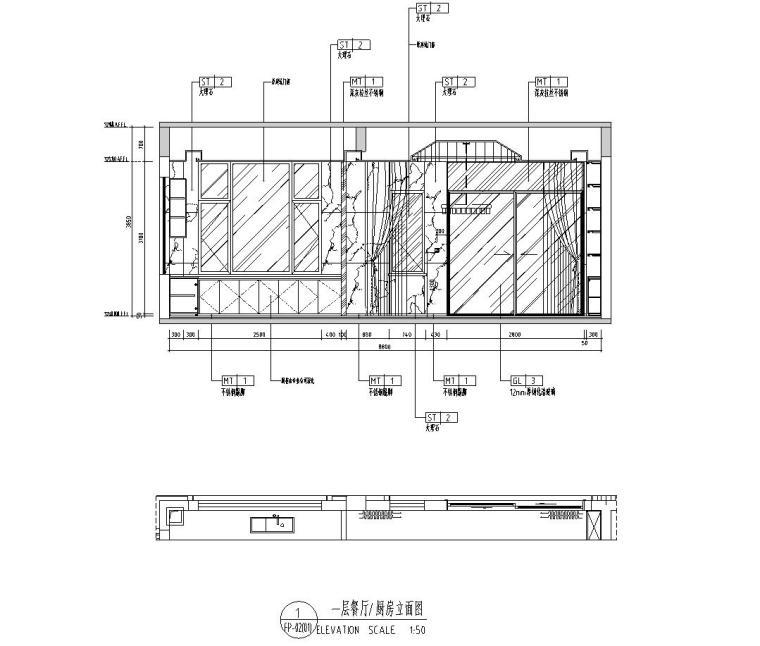 [广东]现代中式800㎡户型别墅样板房施工图_2