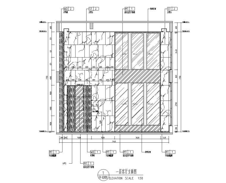[广东]现代中式800㎡户型别墅样板房施工图_12