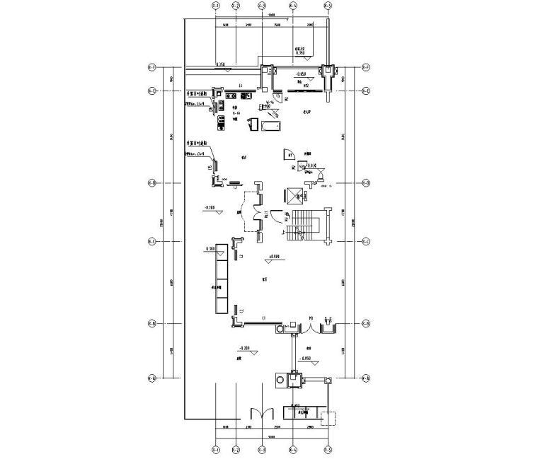 [广东]现代中式800㎡户型别墅样板房施工图_1