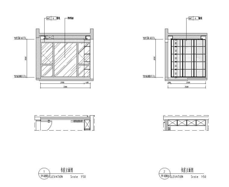 [广东]现代中式800㎡户型别墅样板房施工图_6