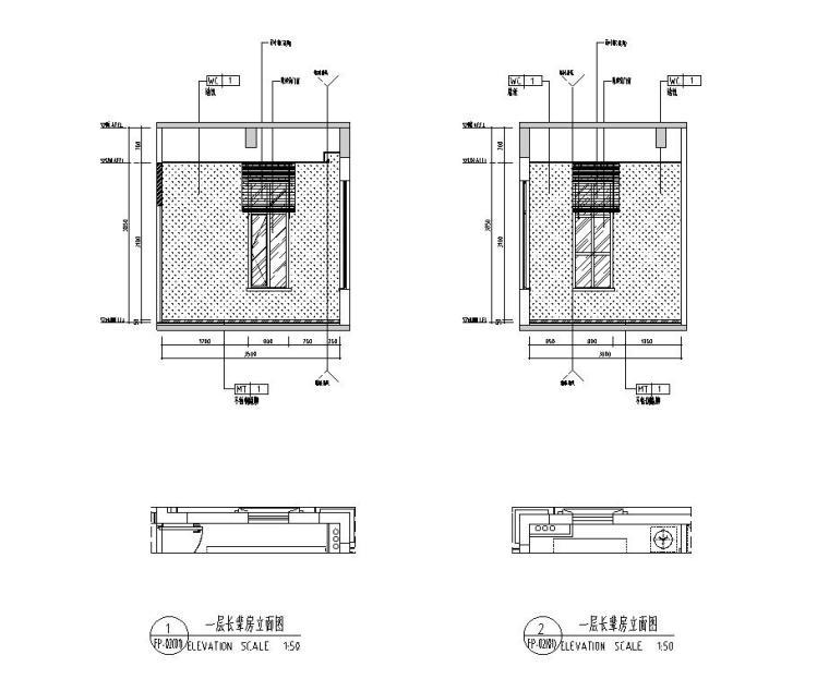 [广东]现代中式800㎡户型别墅样板房施工图_15