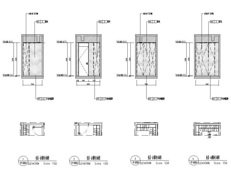 [广东]现代中式800㎡户型别墅样板房施工图_9