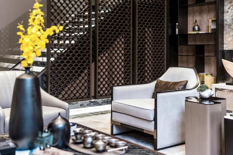 [广东]现代中式800户型别墅样3D模型+效果图_3