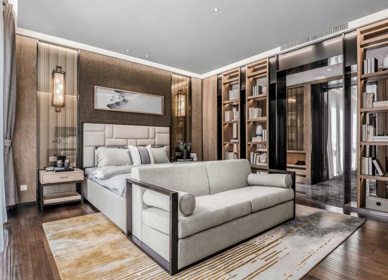 [广东]现代中式800户型别墅样3D模型+效果图_7