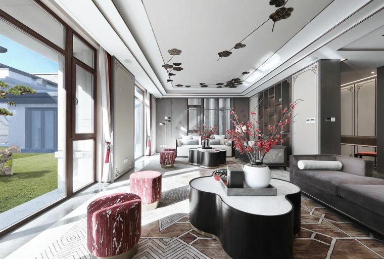 [北京]燕西华府中式合院别墅3D模型+效果图_1