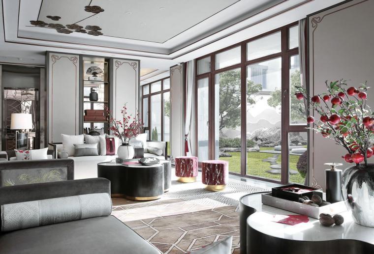[北京]燕西华府中式合院别墅3D模型+效果图_2