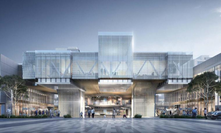上海现代流线公园住宅+商业综合体建筑方案_2