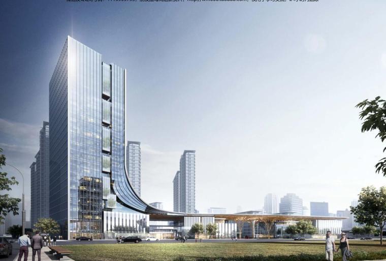 上海现代流线公园住宅+商业综合体建筑方案_3