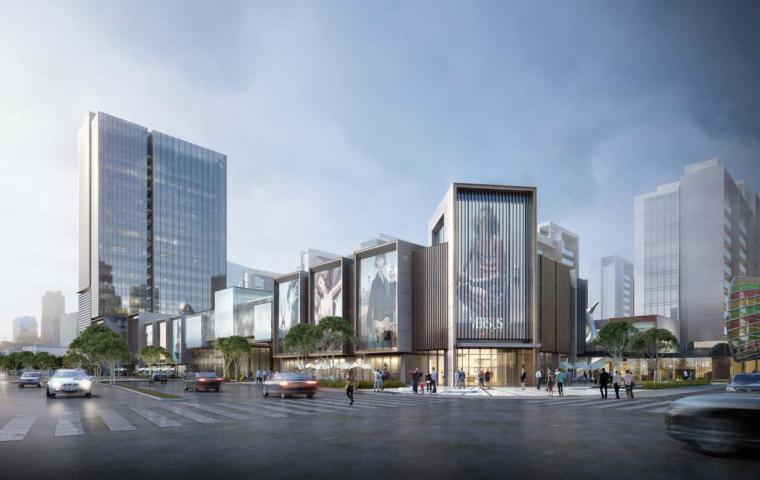 上海现代流线公园住宅+商业综合体建筑方案_12