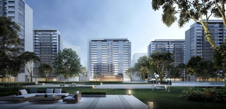 上海现代流线公园住宅+商业综合体建筑方案_14