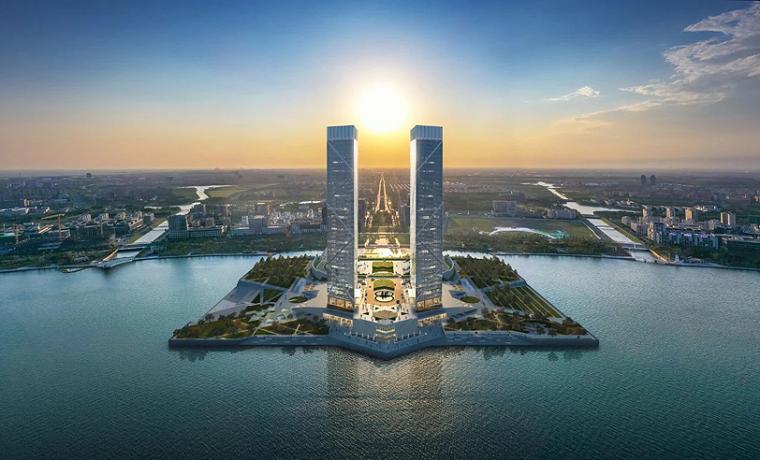 贝氏事务所设计|上海临港双子塔_1