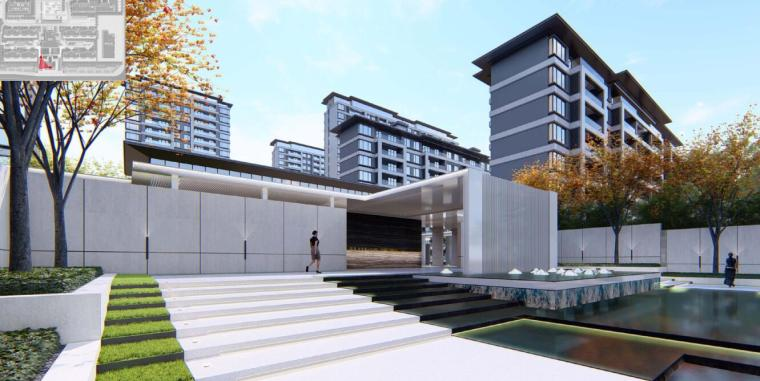 [河南]郑州现代典雅住宅景观设计方案文本_8