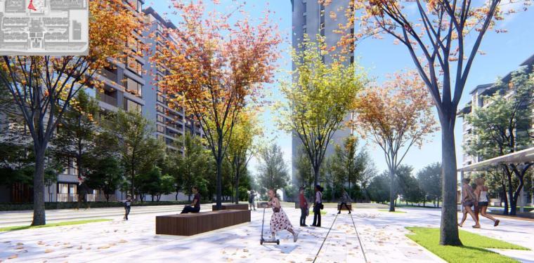 [河南]郑州现代典雅住宅景观设计方案文本_13