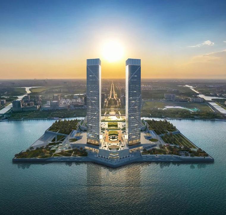 贝氏事务所设计|上海临港双子塔_4