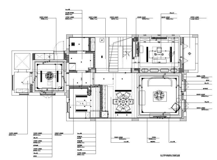 [浙江]300m²东方法式三层住宅装修施工图_5