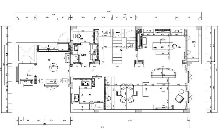 [浙江]300m²东方法式三层住宅装修施工图_15