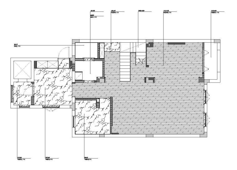 [浙江]300m²东方法式三层住宅装修施工图_4