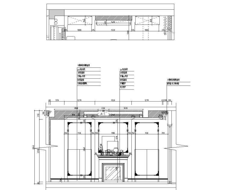 [浙江]300m²东方法式三层住宅装修施工图_6