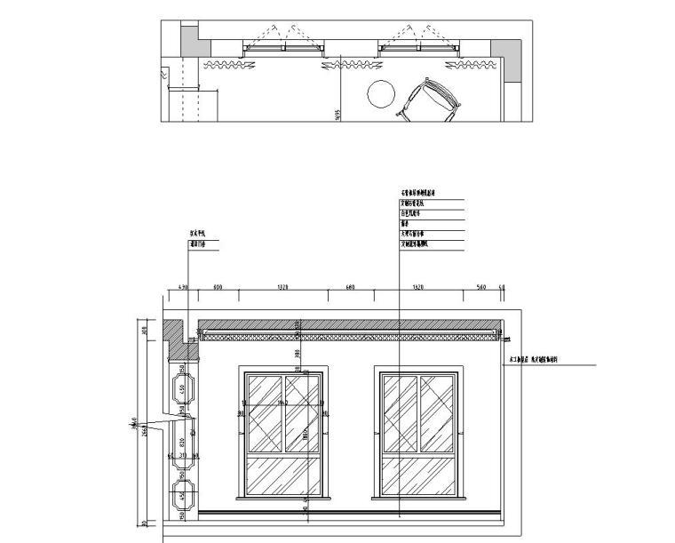 [浙江]300m²东方法式三层住宅装修施工图_12