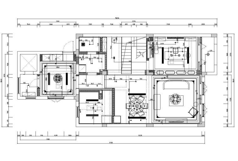 [浙江]300m²东方法式三层住宅装修施工图_3