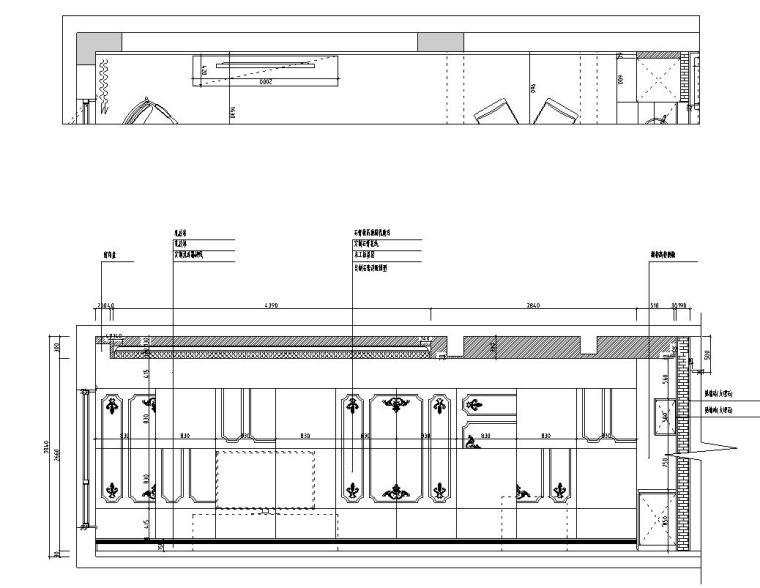 [浙江]300m²东方法式三层住宅装修施工图_10