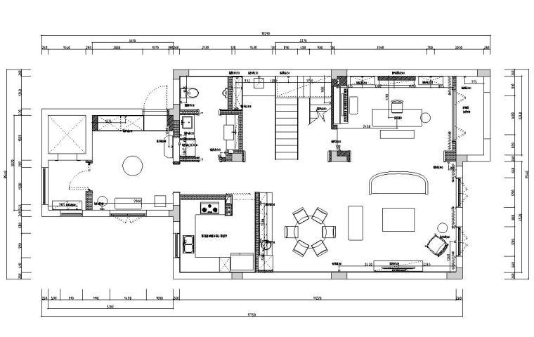 [浙江]300m²东方法式三层住宅装修施工图_2