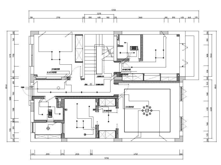 [浙江]300m²东方法式三层住宅装修施工图_7