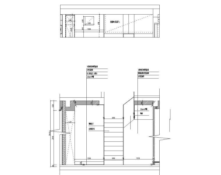 [浙江]300m²东方法式三层住宅装修施工图_14