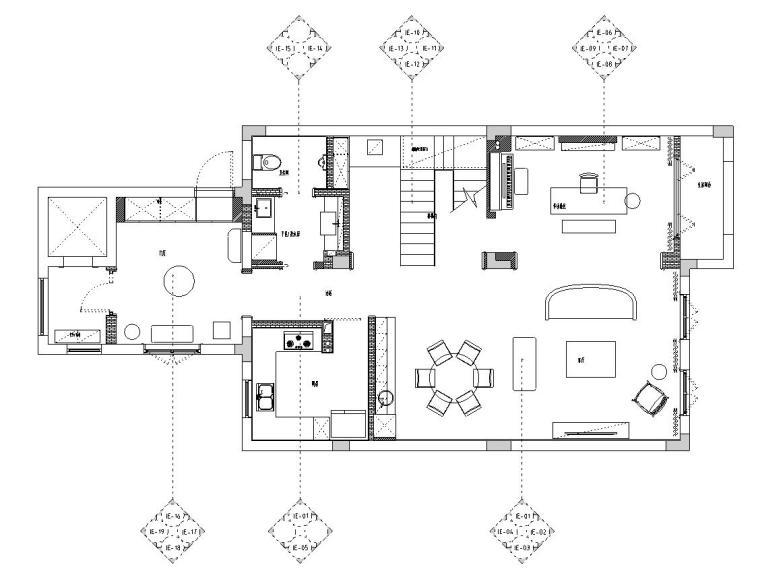 [浙江]300m²东方法式三层住宅装修施工图_1