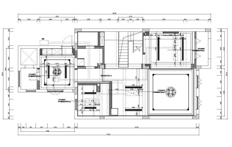 [浙江]300m²东方法式三层住宅装修施工图_13