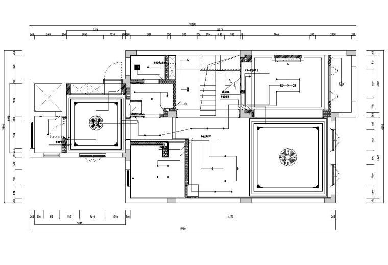 [浙江]300m²东方法式三层住宅装修施工图_9