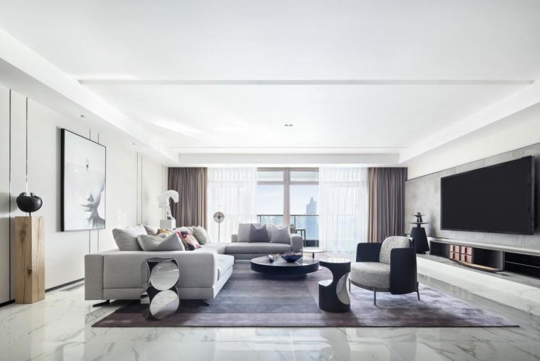 [上海]汤臣一品现代简约住宅3D模型+效果图_1