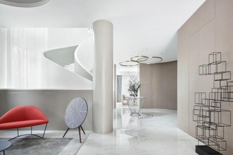 现代简约风格二层别墅住宅3D模型+效果图_6