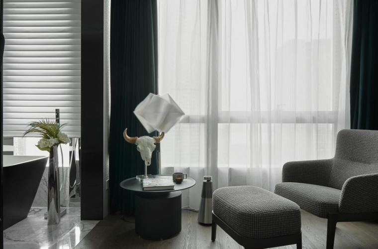 200㎡现代轻奢风格三居室住宅3D模型+效果图_7