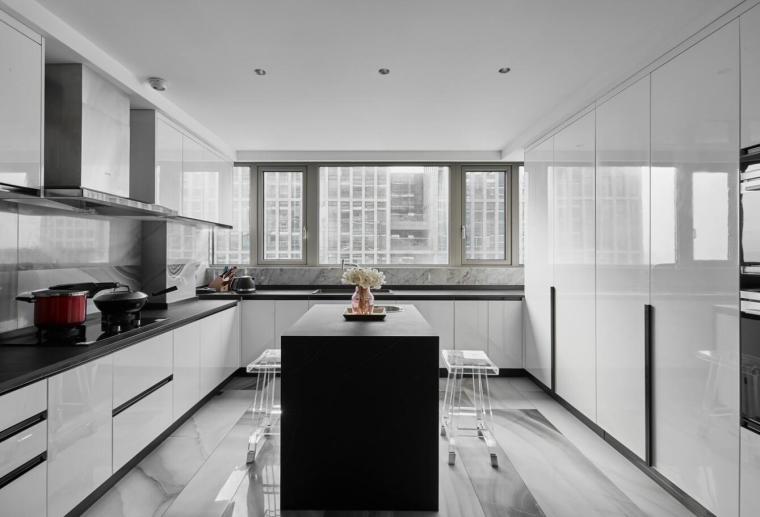 200㎡现代轻奢风格三居室住宅3D模型+效果图_5