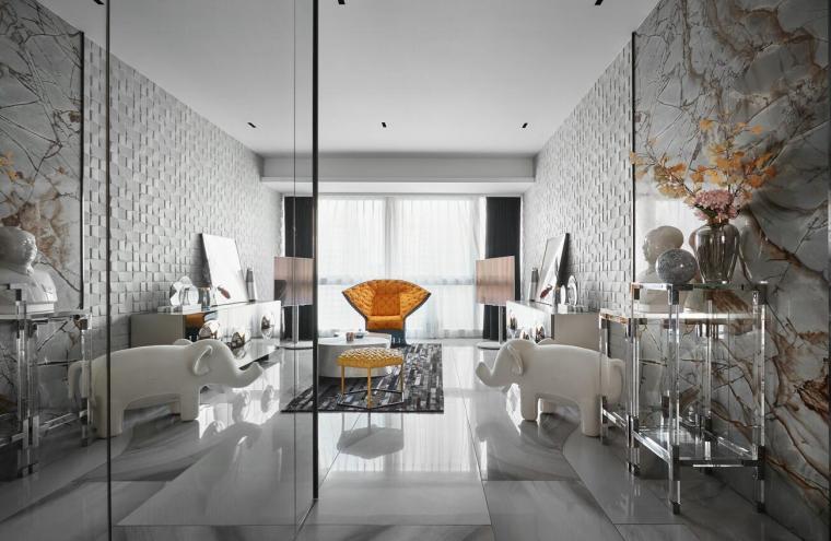 200㎡现代轻奢风格三居室住宅3D模型+效果图_1