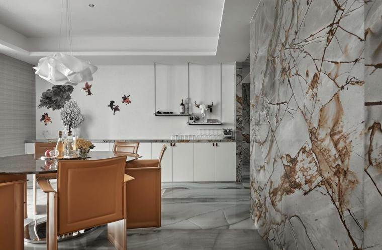 200㎡现代轻奢风格三居室住宅3D模型+效果图_4