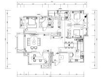 170㎡法式风格三房住宅装修施工图设计