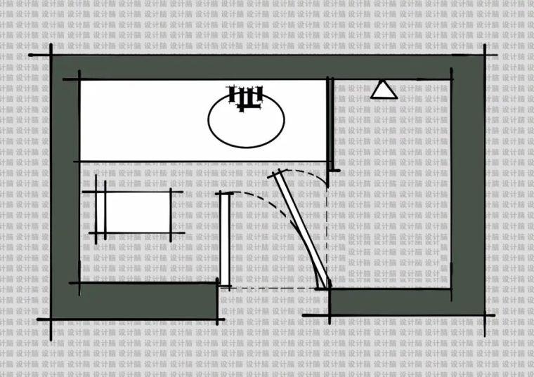常用的十种卫生间平面方案布局_7