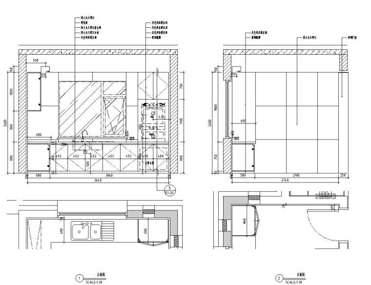 [北京]530㎡现代简奢风联排别墅装修施工图_3