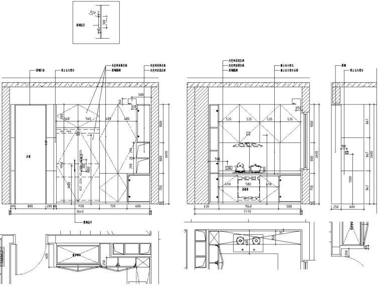 [北京]530㎡现代简奢风联排别墅装修施工图_2