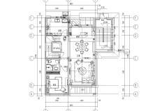 [北京]530㎡现代简奢风联排别墅装修施工图