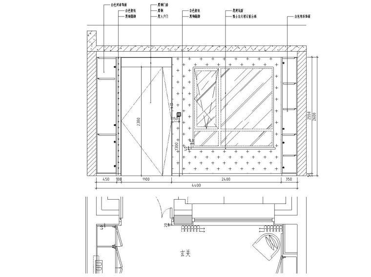[北京]530㎡现代简奢风联排别墅装修施工图_16