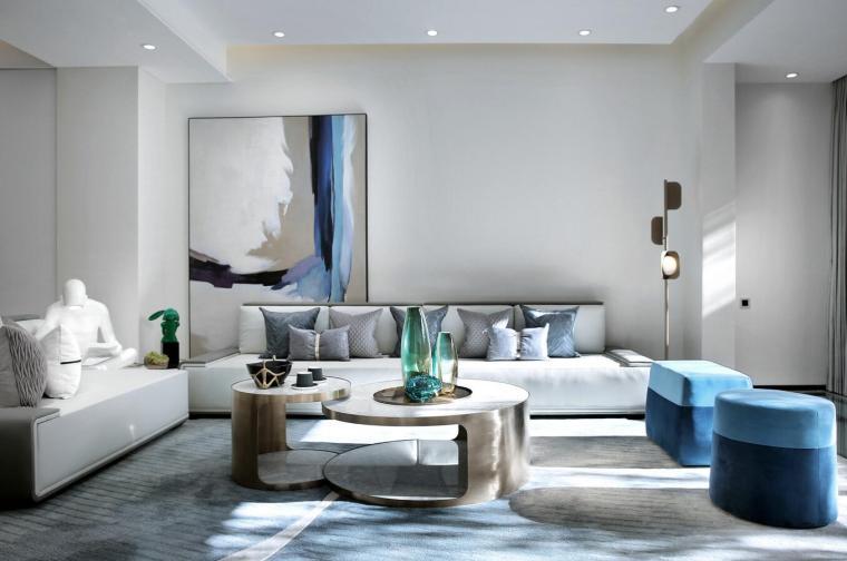 [北京]530㎡现代简奢联排别墅3D模型+效果图_2