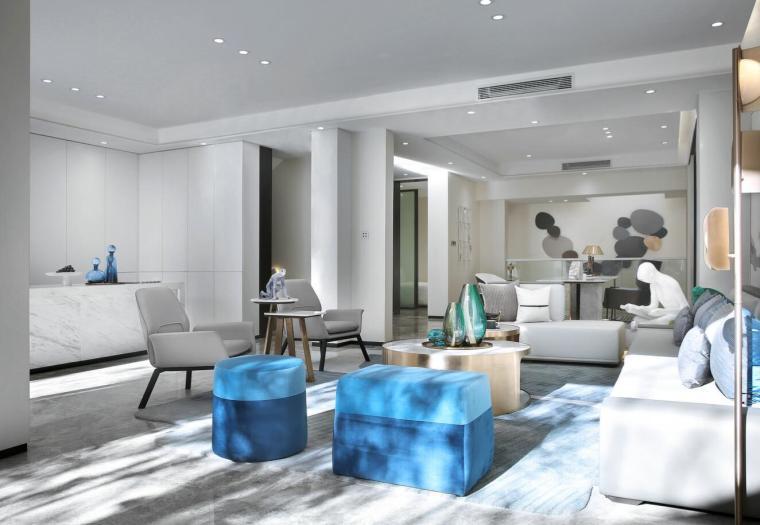 [北京]530㎡现代简奢联排别墅3D模型+效果图_6