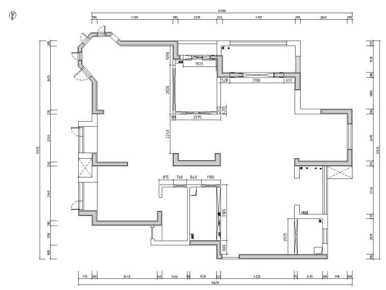 [湖北]武汉180㎡美式轻奢风住宅装修施工图_2