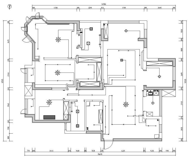 [湖北]武汉180㎡美式轻奢风住宅装修施工图_10