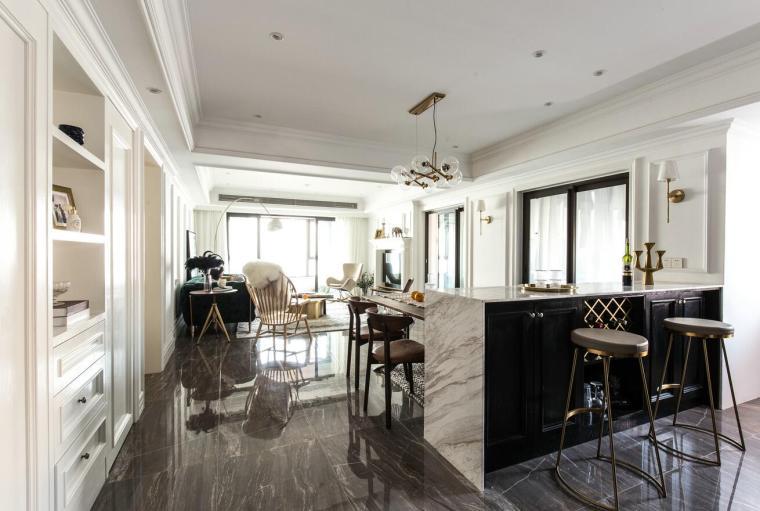 [湖北]武汉180㎡美式轻奢住宅3D模型+效果图_3